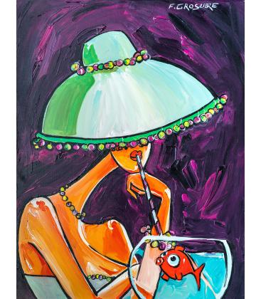 Chapeau Vert à la paille