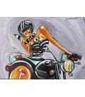 Triumph moto et bandana