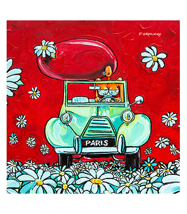 Reproduction toile 40x40 L a deudeuche verte