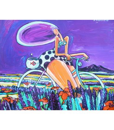 Lavandes en vélo