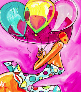 Reproduction Toile 40x40 3 ballons