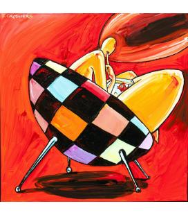 Le fauteuil à carreaux rouges